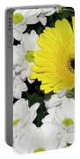 Yellow White Flowers Portable Battery Charger