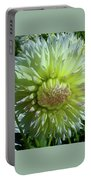 Yellow With White Dahlia Flower Portable Battery Charger