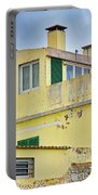 Yellow Worn Out Concrete House Portable Battery Charger