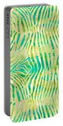 Yellow Zebra Print Portable Battery Charger