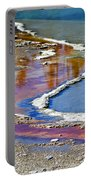 Yellowstone Abstract I Portable Battery Charger by Teresa Zieba