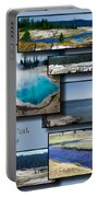 Yellowstone Park August Panoramas Collage Portable Battery Charger
