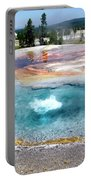 Yellowstone Park Firehole Spring In August 02 Portable Battery Charger