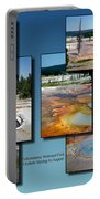 Yellowstone Park Firehole Spring In August Collage Portable Battery Charger