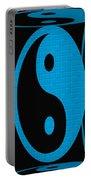 Yin Yang Blue Mosaic Portable Battery Charger