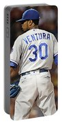 Kansas City Royals, Yordano Ace Ventura,  Painting, Forever Blue Portable Battery Charger