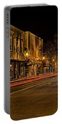 York South Carolina Downtown During Christmas Portable Battery Charger