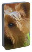 Yorkie In The Grass - Painting Portable Battery Charger