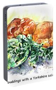Yorkshire Puddings With Yorkshire Salad Garnish Portable Battery Charger