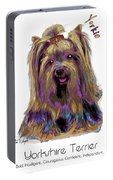 Yorkshire Terrier Pop Art Portable Battery Charger