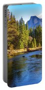 Yosemite Merced River With Half Dome Portable Battery Charger