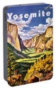 Yosemite National Park Vintage Poster Portable Battery Charger
