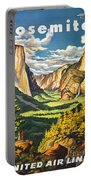 Yosemite Park Vintage Poster Portable Battery Charger