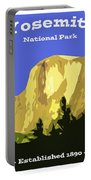 Yosemite Poster Portable Battery Charger