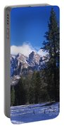 Yosemite Three Brothers In Winter Portable Battery Charger