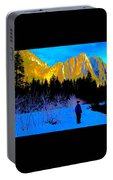 Yosemite Valley Winter Walk Portable Battery Charger