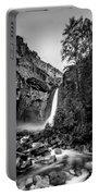 Yosemite Waterfall Bw Portable Battery Charger