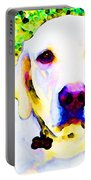 You Are My World - Yellow Lab Art Portable Battery Charger