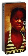 Young Black Female Teen 1 Portable Battery Charger