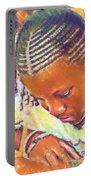 Young Black Female Teen 2 Portable Battery Charger