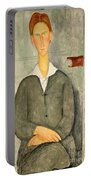 Young Boy With Red Hair Portable Battery Charger by Amedeo Modigliani