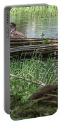 Young Buck Watching Eagle Portable Battery Charger