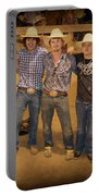 Young Bull Riders Portrait Portable Battery Charger
