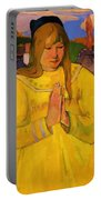 Young Christian Girl 1894 Portable Battery Charger