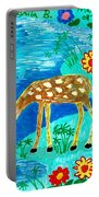 Young Deer Drinking Portable Battery Charger
