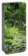 Young Doe Among The Flora, No. 2 Portable Battery Charger