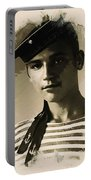 Young Faces From The Past Series By Adam Asar - Asar Studios, No 1 Portable Battery Charger