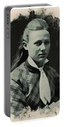 Young Faces From The Past Series By Adam Asar, No 41 Portable Battery Charger