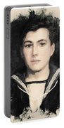 Young Faces From The Past Series By Adam Asar, No 48 Portable Battery Charger