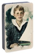 Young Faces From The Past Series By Adam Asar, No 66 Portable Battery Charger