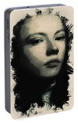Young Faces From The Past Series By Adam Asar, No 75 Portable Battery Charger