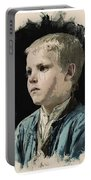 Young Faces From The Past Series By Adam Asar, No 77 Portable Battery Charger