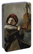 Young Flute Player , Judith Leyster, 1630 Portable Battery Charger