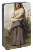 Young Girl, By William-adolphe Bouguereau Portable Battery Charger
