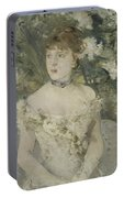 Young Girl In A Ball Gown By Berthe Morisot Portable Battery Charger