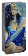 Young Girl In Blue Portable Battery Charger