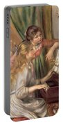 Young Girls At The Piano Portable Battery Charger by Pierre Auguste Renoir