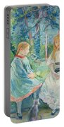 Young Girls At The Window Portable Battery Charger by Berthe Morisot