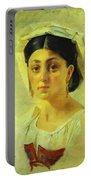 Young Italian Woman In A Folk Costume Study Portable Battery Charger