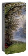 Young Ladies By A River Portable Battery Charger by John Edmund Buckley