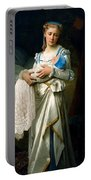 Young Lady And The Baby Portable Battery Charger