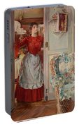 Young Man On A Door French Room, Emilio Portable Battery Charger