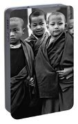 Young Monks II Bw Portable Battery Charger