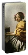 Young Woman At A Virginal Portable Battery Charger