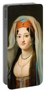 Young Woman In Traditional Ottoman Clothes Portable Battery Charger