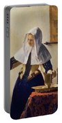 Young Woman With A Water Jug Portable Battery Charger by Jan Vermeer